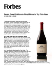 Seven Great California Pinot Noirs to Try This Year cover
