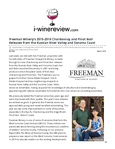 Freeman Winery's 2015-2016 Chardonnay and Pinot Noir Releases from the Russian River Valley and Sonoma Coast cover