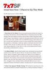 Drink Here Now: 5 Places to Sip This Week cover