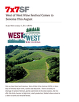 West of West Wine Festival Comes to Sonoma This August cover