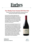 Your Weekly Treat: Freeman 2010 Pinot Noir cover