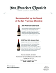 Recommended by Jon Bonné of the San Francisco Chronicle cover
