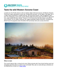 Taste the wild Western Sonoma Coast  cover