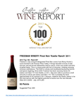 FREEMAN WINERY Pinot Noir 'Keefer Ranch' 2011