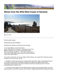 Wines from the Wild West Coast of Sonoma  cover