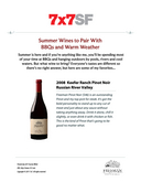 Summer Wines to Pair With BBQs and Warm Weather: 2008 Keefer Ranch Pinot Noir Russian River Valley cover