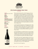 2014 Gloria Estate Pinot Noir cover
