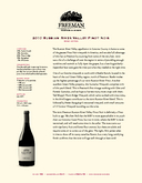 2010 Russian River Valley Pinot Noir cover