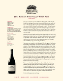 2014 Russian River Valley Pinot Noir cover