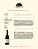 2011 Russian River Valley Pinot Noir cover