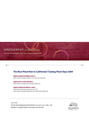 The Best Pinot Noir in California?: Tasting Pinot Days 2009 cover