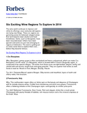Six Exciting Wine Regions To Explore In 2014 cover