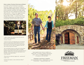 Freeman Vineyard & Winery Brochure cover