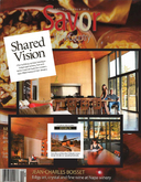 Shared Vision Savor Magazine, a NY Times Publication. cover