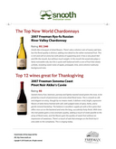 The Top 12 wines great for Thanksgiving: 2007 Freeman Sonoma Coast Pinot Noir Akiko's Cuvee. cover