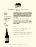 2009 Russian River Valley Pinot Noir cover