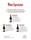 Wine Spectator: Outstanding Pinot Noirs cover