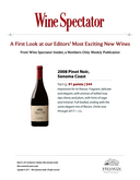 Wine Spectator: A First Look at our Editor's Most Exiting New Wines cover