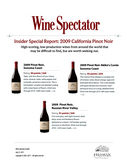 Insider Special Report: 2009 California Pinot Noir cover