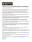 California Pinots to Beat Blockbusters: John Mariani cover