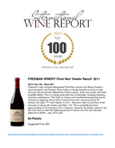 FREEMAN WINERY Pinot Noir 'Keefer Ranch' 2011 2013 Top 100 - Rank #47 cover