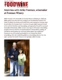 Interview with Akiko Freeman, winemaker at Freeman Winery cover