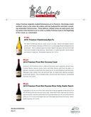 Robert Parker: 91 pts 2010 Freeman Chardonnay Ryo-Fu 90 pts 2010 Freeman Pinot Noir Sonoma Coast 90 pts 2010 Freeman Pinot Noir Russian River Vally, Keefer Ranch cover