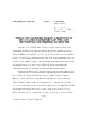 06-20-2004: Press Release cover